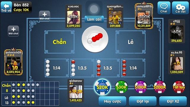 Game xóc đĩa đổi thưởng