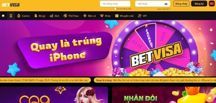 BetVisa là nhà cái cung cấp những game đổi thưởng hoàn toàn online