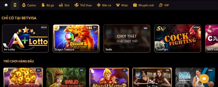BetVisa sở hữu vô vàn những đổi thưởng và game mini game ấn tượng