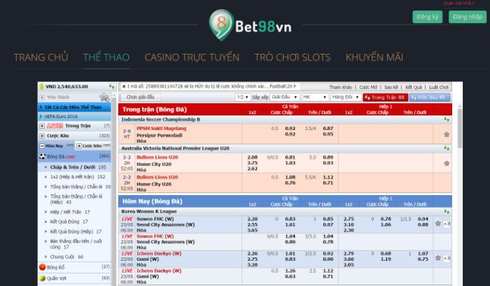 Nhà cái Bet98-Chọn kèo Casino Trực Tuyến
