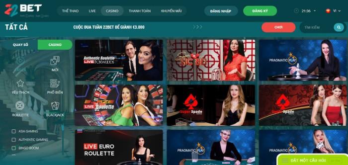 Kèo Nhà cái 22Bet-Chọn Kèo casino Trực tuyến