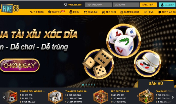 Nhà cái Five88-Chọn kèo Casino Trực Tuyến