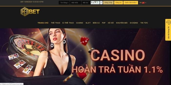 Nhà cái H3Bet chuyên nhất về hai game là cá cược thể thao và casino