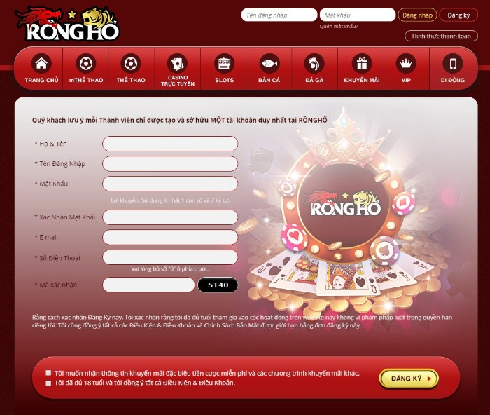 Nhà Cái Rồng Hổ-Casino Trực Tuyến